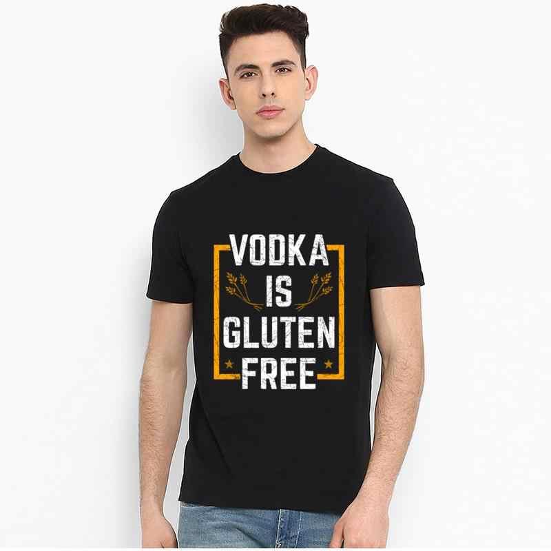 สไตล์ใหม่ Vodka ตังฟรีใหญ่ขนาด S ~ 5xL ติดตั้งขนแกะถักชาย T เสื้อ TEE