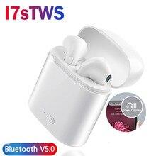 Verhux i7s TWS bezprzewodowe słuchawki douszne Bluetooth Sport Stereo słuchawki douszne z ładowaniem Box dla iPhone Xiaomi huawei