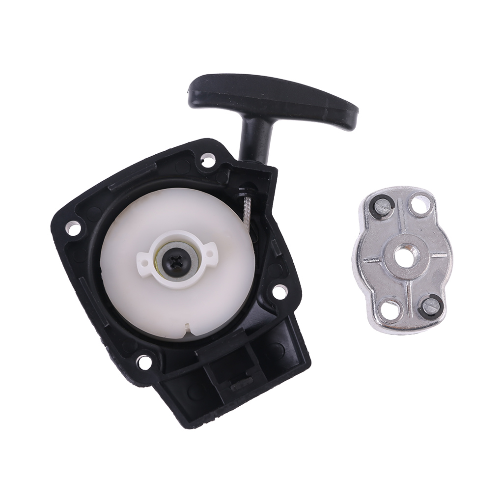 1Set 26CC 1E34F Brush Cutter Grass Hedge Trimmer Starter With Pulley Plate Replacement For Mitsubish CG260 BC260 95AA