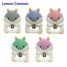 Lemon Comeon Silicone Teether Cartoon Squirrel Baby Chew Toy Creative Beads Infant Tooth Stick Goods 1PC