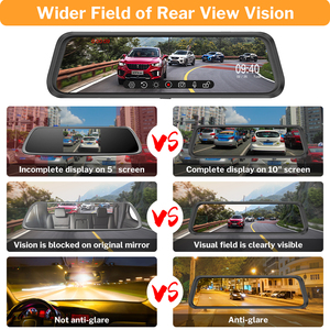 Image 4 - Deelife مرآة مسجل دي في أر داش كام 10 كامل الشاشة HD 1080P سيارة كاميرا مرآة الرؤية الخلفية مع الرؤية الخلفية مسجل الفيديو