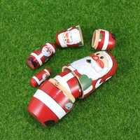 Muñecas de Santa Claus delicadas y adorables muñecas rusas coloridas, colección de muñecas apilables de anidación para niños, 5 uds.
