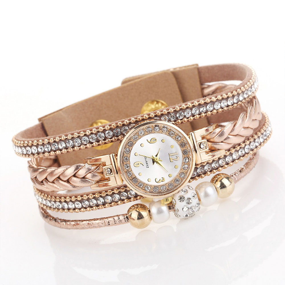Bracelet Watch Jewelry Strap Gift Fashion Round Buckle Hasp Charm Casual-Accessories