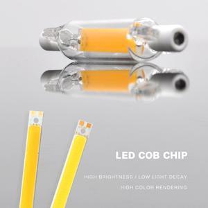 Image 4 - LED R7S szklana rurka żarówka COB 78MM 8W 118MM 13W R7S żarówka Corn J78 J118 zastąpić światło halogenowe 50W 90W AC 220V 230V Lampadas