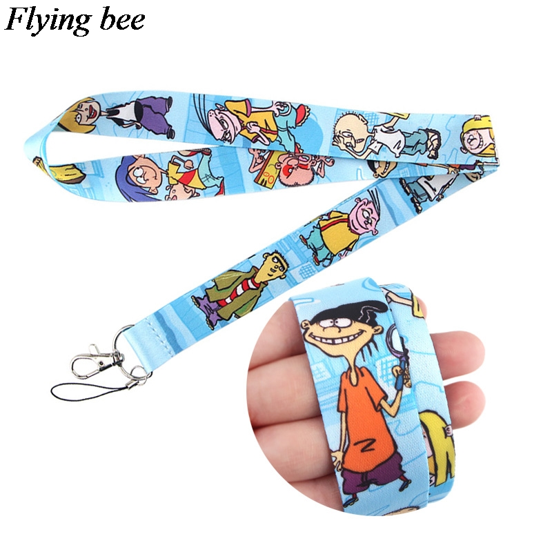 Flyingbee Cartoon Phone Lanyard Cool Lanyards For Keys Phone Rope Keychanis Keyring Neck Straps Phone Accessories X0648