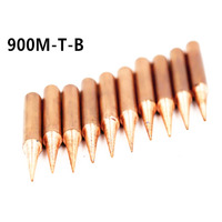 15Pcs Pure Copper Iron Tip 900M T Soldering Tip For Hakko Soldering Rework Station Soldering Iron Station Welding Tips Tools -