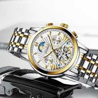 Reloj hombres LIGE männer uhren mechanische Herren Uhren top marke luxus automatische uhr männer gold wirstwatch männlichen Tourbillon