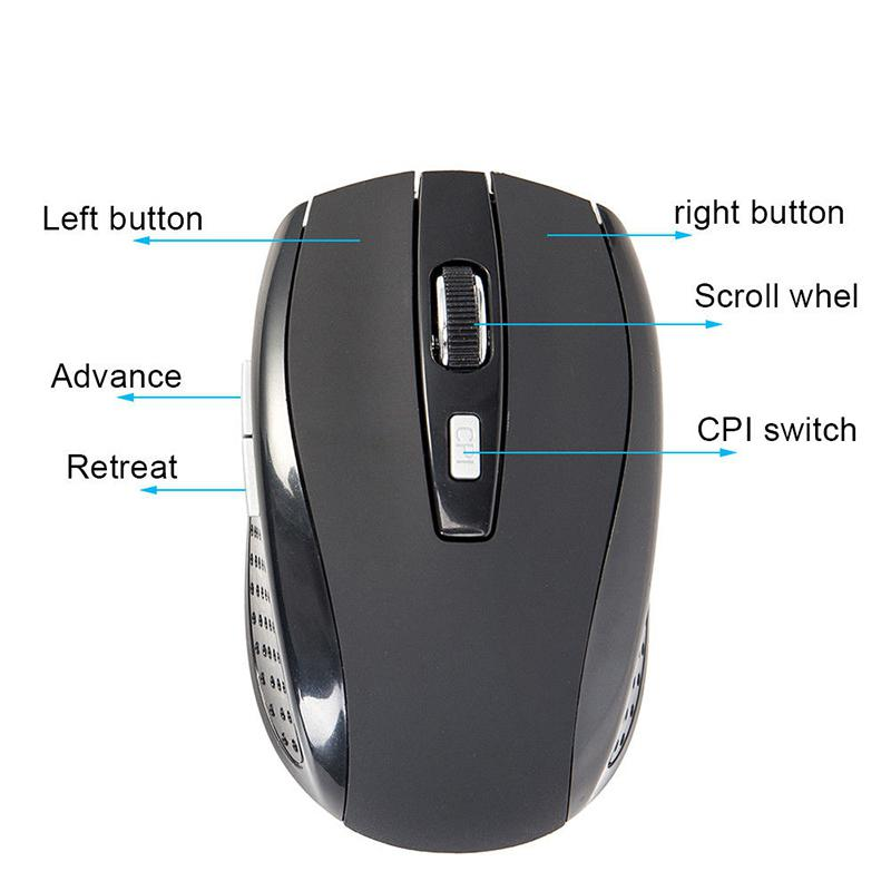 DishyKooker 2.4G Ergonomic Wireless Mouse for Gamer Gaming Laptops Silver Grey Electronic Product