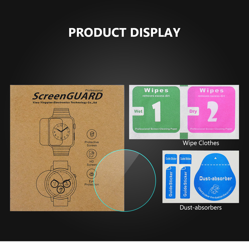 All Size Round Watches Tempered Glass Screen Protective Film Diameter 34 35 36 38 39 40 42 45 46 mm Screen Guard For Smart Watch 6