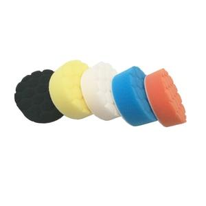 Image 4 - 5pcs 자동차 연마 디스크 자기 접착 버핑 왁싱 패드 자동차 폴리 셔 드릴 어댑터에 대 한 Muti 컬러 스폰지