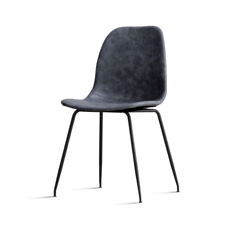 Iron Chair Simple Modern Saddle Leather Dining Chair Nordic Home Back Chair Ins Wind Desk Chair