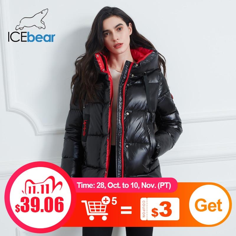 ICEbear 2020 новая зимняя куртка высокого качества с капюшоном пальто женские модные куртки зимняя теплая женская одежда повседневные парки GWD19502I|Парки| | АлиЭкспресс