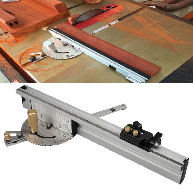 Jauge d'onglet 450mm avec scie à Table d'arrêt de voie/jauge d'onglet de routeur règle d'assemblage de sciage pour scie à Table routeur outils de bricolage pour le travail du bois