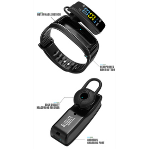 Image 5 - Y3 Plus Wireless Bluetooth earphone smart watch Health Tracker Pedometer Fitness Bracelet Smart Wristband Bluetooth headset