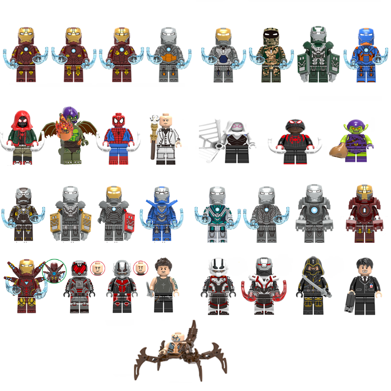 Super Heroes Single Sale Building Block Figures IRON MAN SPIDERMAN HAWKEYE Bricks Toys For Children Compatible With LEgOINGs