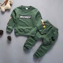 New Spring Autumn Children Clothing Boys Cartoon Casual Sports T-shirt Pants 2pcs/Set Infant Outfit Kids Clothes Suit Tracksuits стоимость