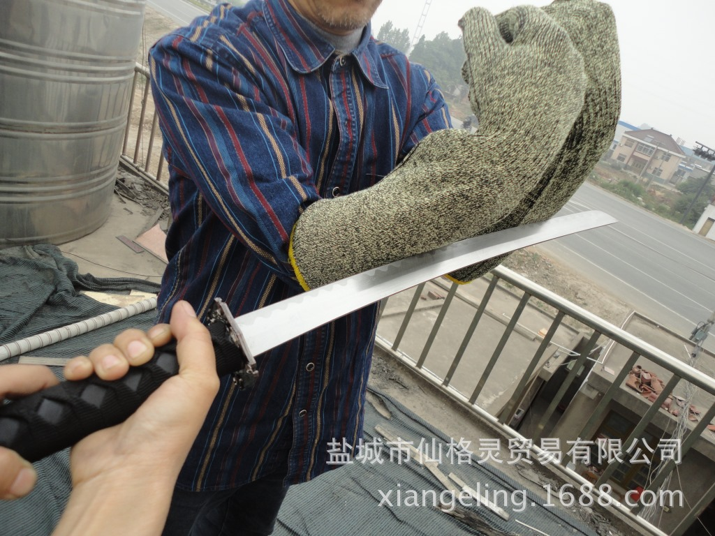 America DuPont Kevlar Intensive Di Lun Bao Steel Wire One-piece Gloves Arm Guard Anti-Cutting Elbow Guard Anti-Knife