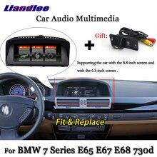 Liandlee para BMW 7 Series E65 E67 E68 730d 2001 ~ 2008 compatible con sistema Original de coche Radio Aux Wifi GPS navegación Multimedia