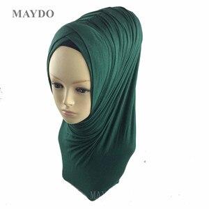 Image 2 - TJ29 1   Fashion Fold Muslim Hijab Headband Pashmina Muslim Shawl