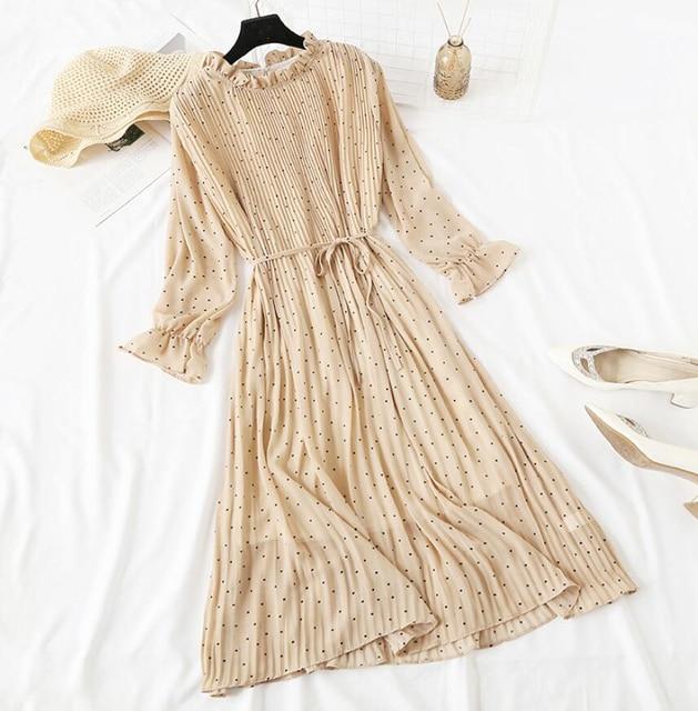 Lovely crinkle dress, long length, cuffed sleeve dress 6