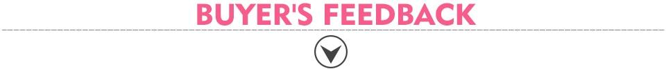 buyer's feedback