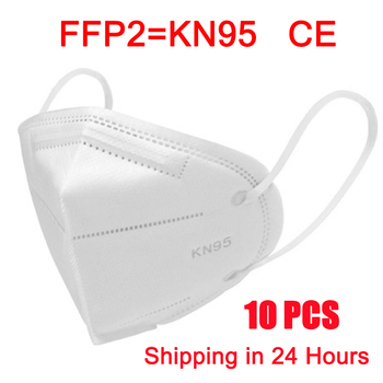 10 Pcs KN95 FFP2 Masks 95% Filtering Protective Face Masks Anti Flu Safety Health Cover Mouth Dust Mask Mascarillas Tapabocas