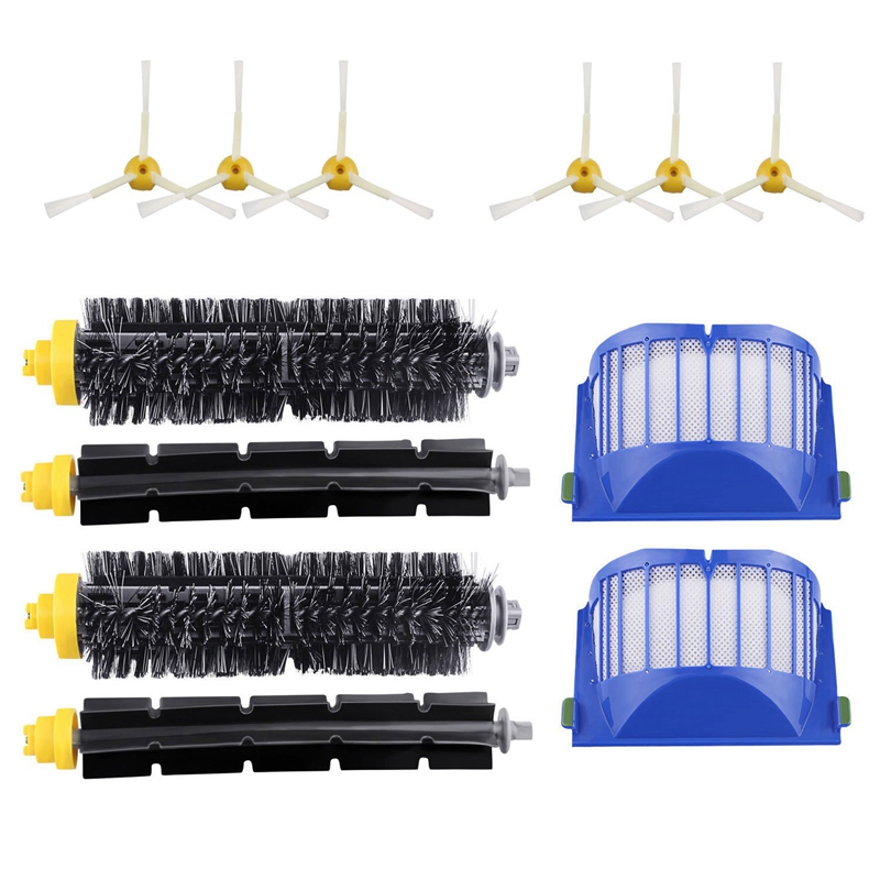 Hepa Filter + Main Brush + Side Brush for Irobot Roomba 600 Series 620 630 650 660 Replacment Accessory|Vacuum Cleaner Parts| |  - title=