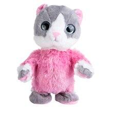 Kid Favorite Lovely Will Nod Walk Talking Hamster Speak Sound Record Repeat Stuffed Animal Kawaii Cat Bear Plush Toys