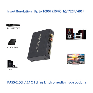Image 3 - HDMI Audio Extractor Converter HDMI to HDMI SPDIF Optical RCA L/R Adapter Support 5.1CH Format Output DAC Amplifer Decoder