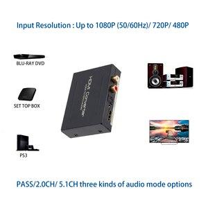 Image 3 - HDMI Âm Thanh Máy Hút Bộ Chuyển Đổi HDMI Sang HDMI SPDIF Quang RCA L/R Adapter Hỗ Trợ 5.1CH Định Dạng Đầu Ra Đắc Amplifer bộ Giải Mã