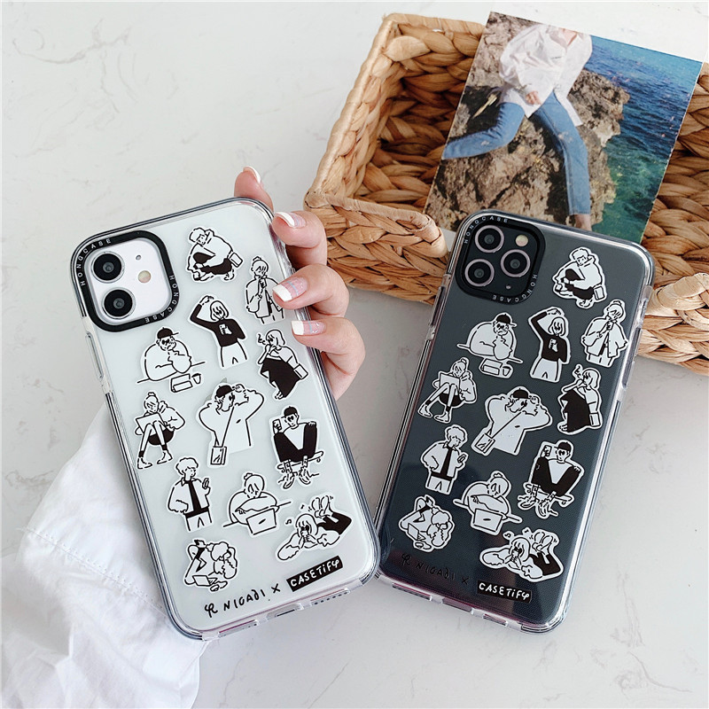 For iPhone 11 Pro SE 2 Case Luxury Original Silicone Full Protection Soft Cover For iPhone X XR 11 XS Max 7 8 Plus Phone Fundas(China)