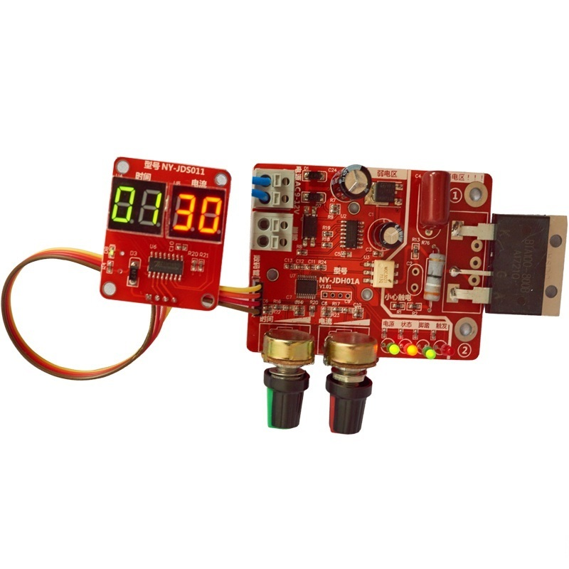 DIY Spot Welder Parts NY-D01 40A/100A Digital Display Spot Welding Time Current Controller Panel Timing Ammeter Control Board