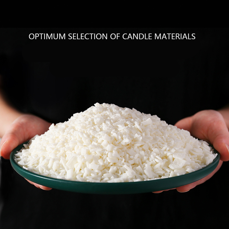 Natural Soy Wax For DIY Candle Making Supplies Smokeless Waxed Candles Wicks Raw Material Handmade Gift 1000g/pack