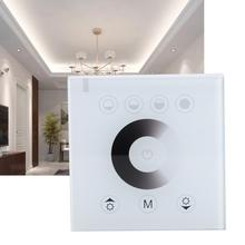 купить RGB&W LED Glass Panel Touch Screen Switch Dimmer Color Changing Smart Embedded Lamp light Switch 12-24V недорого