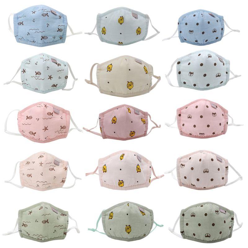 Children Baby Kids Cotton Wind Mouth Mask Boys Girls Cartoon Breathable Masks