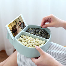 Modern Living Room Creative Modeling Lazy Snack Bowl Plastic Double Storage Box Snack Bowl Lazy Melon Fruit Bowl Dishes