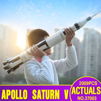 37003 Creative Toys Compatible With Legoing 21309 Saturn V Space Rocket Set Assembly Building Blocks Bricks Kids Christmas Gifts