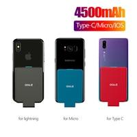 Mini cargador de batería externa de respaldo portátil, funda de Banco de energía para iPhone X XS max 11 Pro/Samsung/Huawei/Xiaomi/Oneplus oile