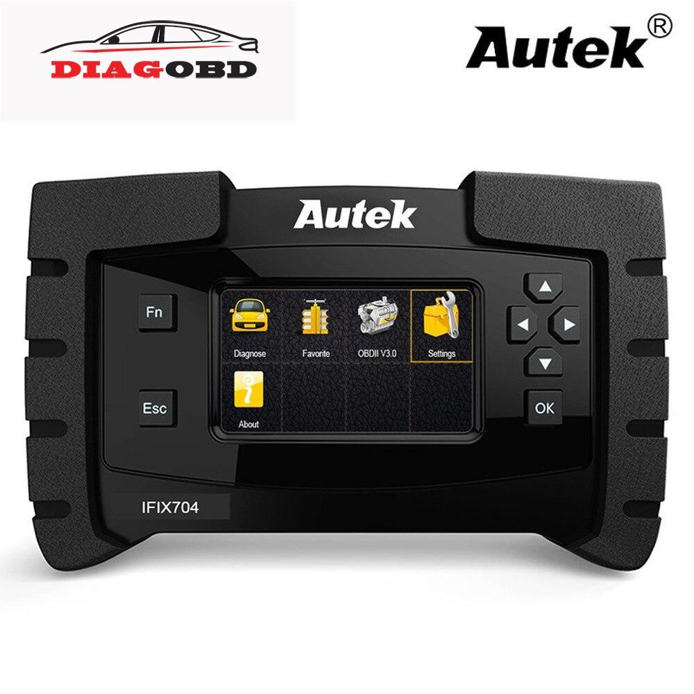 Scanner automatique d'obdii de système complet d'autek IFIX704 pour l'outil de Diagnostic OBD2 multilingue de SRS IMMO d'airbag d'abs de Toyota de Chrysler Ford