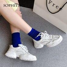 Sophitina/Новинка; Белые женские туфли; Удобные дышащие кроссовки