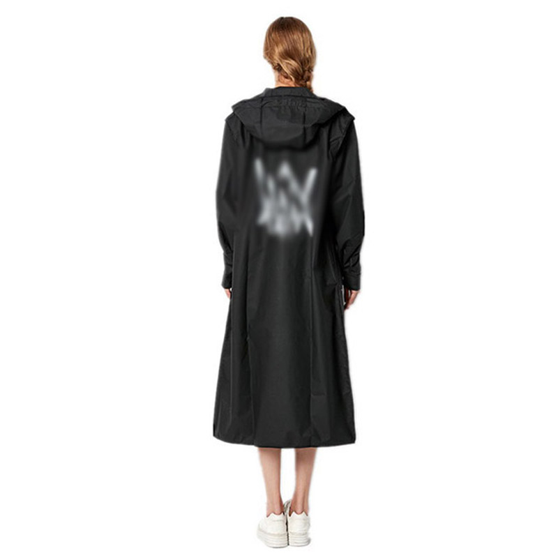 Image 3 - EVA Women Raincoat Rainwear Men Rain Coat Impermeable Capa de Chuva Chubasquero Poncho Japan Waterproof Rain Cape Cover HoodedRaincoats   -