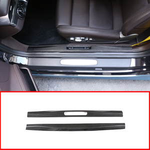 Image 1 - For LHD & RHD For Porsche 718 16 20 For Porsche 911 16 2018 Real Carbon Fiber Car Inner Door Protect Plate Car Accessories