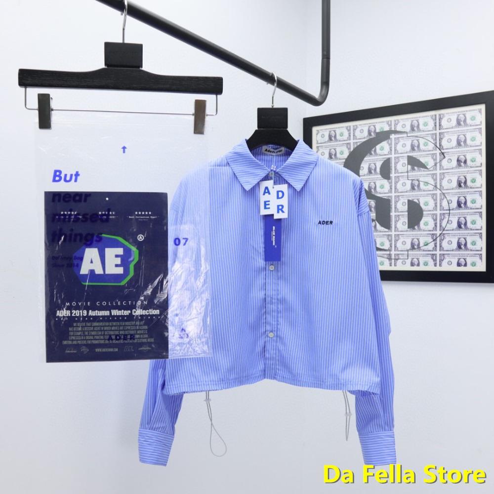 Purple Ader error Shirts 2020 Men Women Ader error Reda Crop Shirt High Quality Korean Style Adererror Blouse Full Stripe
