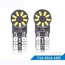 10PCs T10 Led Canbus 18 Smd 3014 No OBC Error 194 168 W5W 18smd LED Interior Instrument Light Bulb Lamp White 6000k