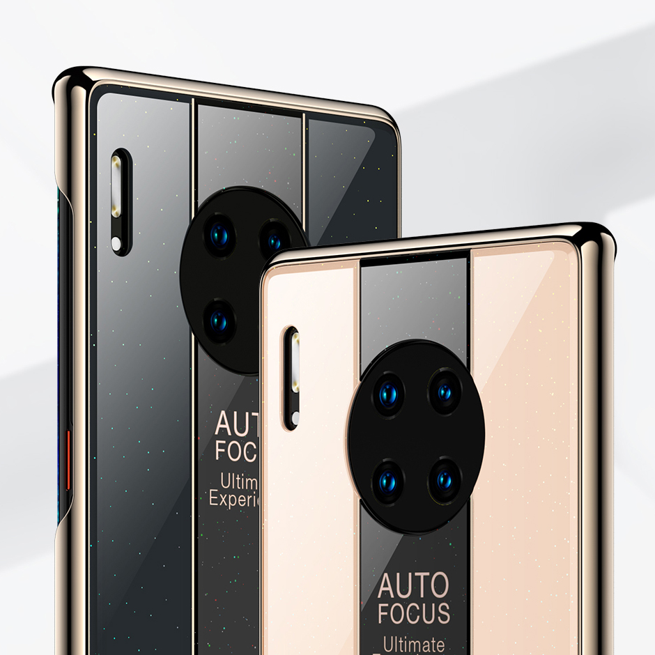 For Huawei Mate 30 Pro Case Luxury TPU edge+Hard PC Plexiglass Protective Back Cover Case for huawei mate 30 30pro mate30 shell