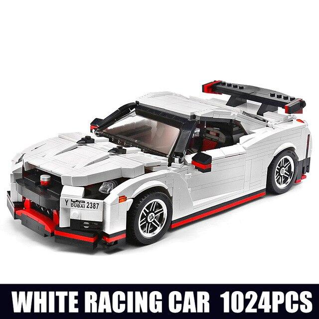 Creative series Moc Technic le Nismo Nissan GTR R35 course de vitesse Sport ensemble de voitures blocs de construction lepinbrick enfants jouets 20518