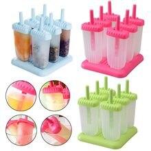 6 células diy picolé moldes de sorvete fabricantes de picolé reutilizável molde para ferramentas de cozinha em casa diy alimentos