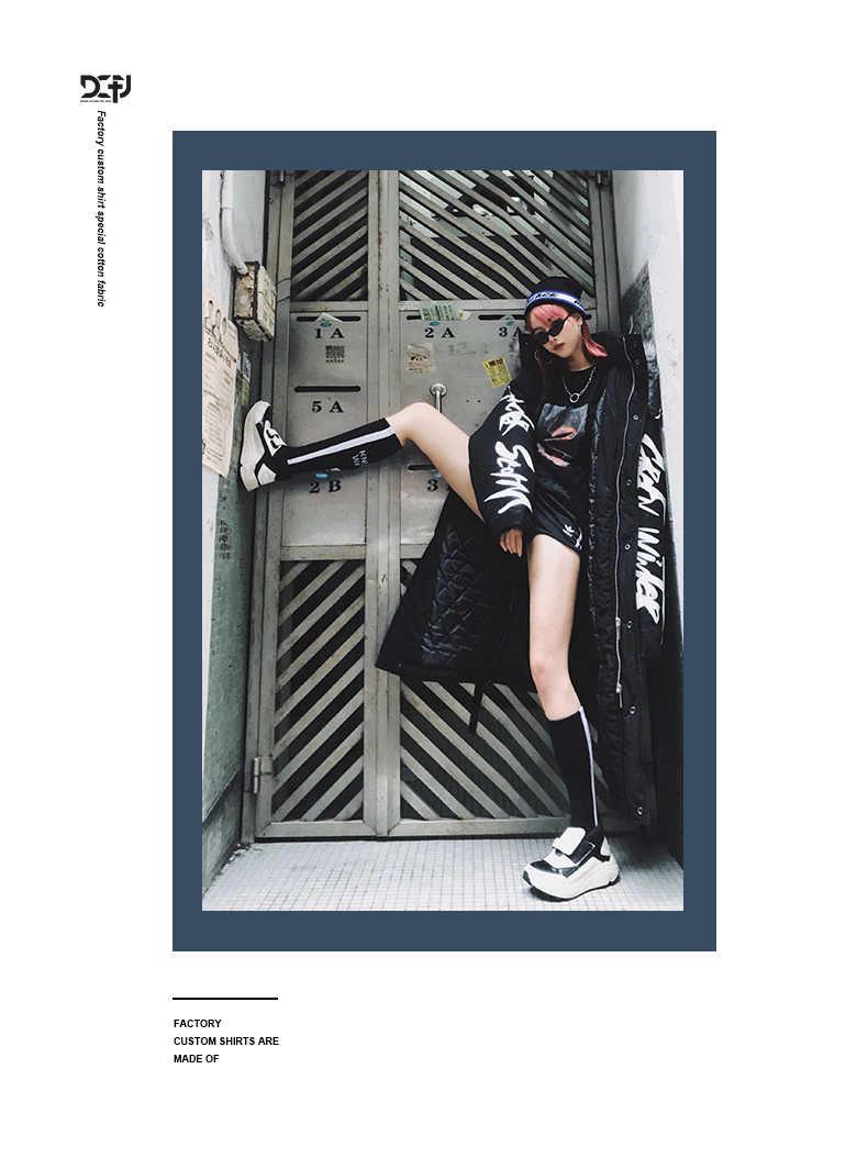 겨울 힙합 패션 긴 모피 칼라 코트 2018 코튼 자켓 후드 의류 스트리트웨어 아우터 및 코트 따뜻한 두꺼운