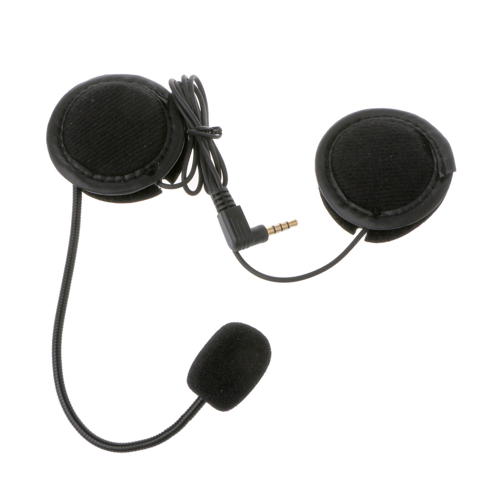 Motorcycle Helmet Headset For Microphone Speaker Soft Accessory For Motorcycle Intercom Work With 3.5mm-plug