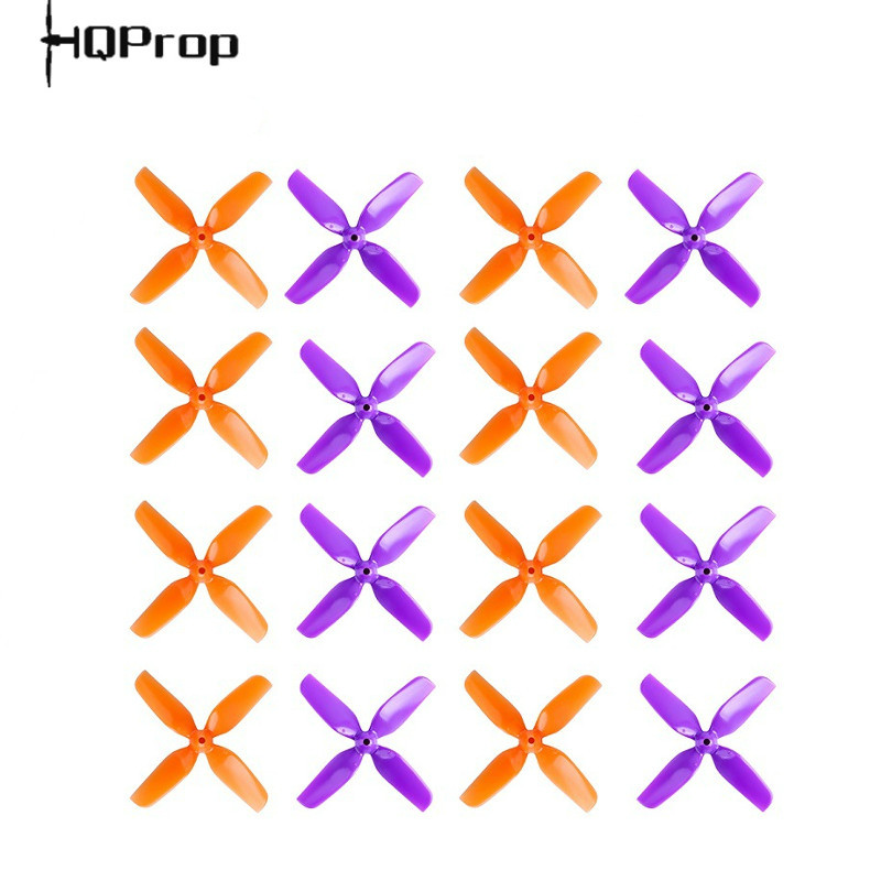 4Pairs 8PCS HQ 40mm 1.6inch 4 Blade Propeller Prop 1mm/1.5mm Hole For 0802/0804/0706 Brushless Motor FPV Racing Drone